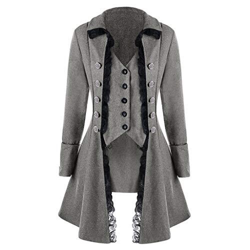 Aberimy Damen Winterjacke Fleece Einfarbige DREI-Breasted Lange Mantel -