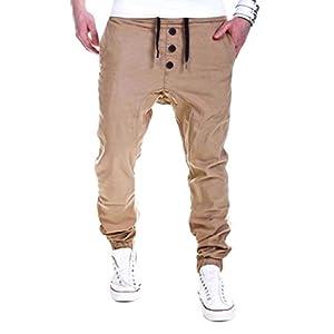 Pantalón para hombre,Pantalones Largos Deportivos Chándal Algodón Fitness Joggings,Pant con Bolsillo ❤️Xinantime❤️