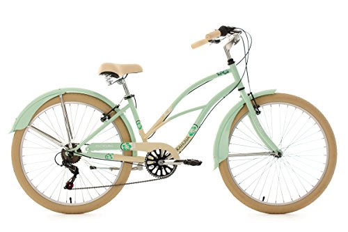 KS Cycling Damen Fahrrad Beachcruiser Kahuna, mint-beige, 26, 761B