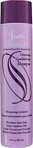 Professional Remy Hair Extension Cleansing Conditioning Shampoo by Satin Strands (Extensions Satin Hair)