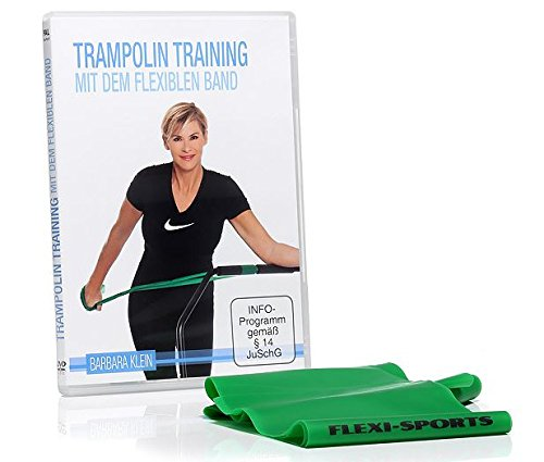 "FLEXI-SPORTS® DVD ""Trampolin Training mit dem flexiblen Band"" inkl. Fitband (200cm)"