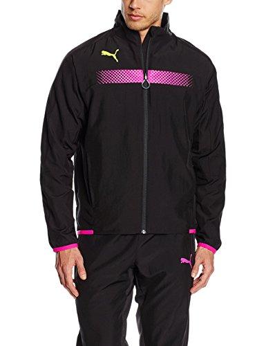 Jacket Track Herren Puma (PUMA Herren Jacke IT Evotrg Track Jacket, Black-Pink Glo, XL, 654841 58)