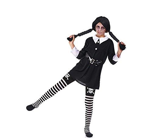 Imagen de disfraz de colegiala siniestra para niña