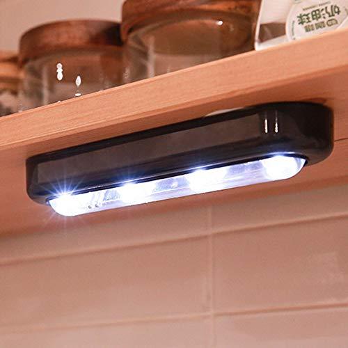 Mini-LED-Nachtlicht-Berührungsschalter Beleuchtung Smart Baby Schlafzimmer Lampe weich für Schränke Abstellraum 180-Grad-Rotation - Schwarz - Schrank Baby Mini