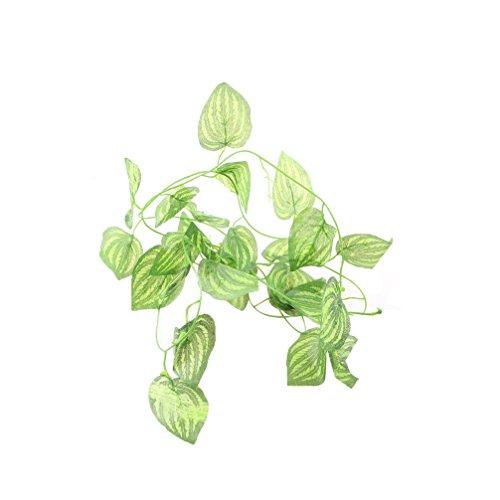 emours Aquarium Decor Kunststoff Pflanzen Fruit Vines für Reptilien und Amphibien, mit Kunststoff-Träger, 2Stück