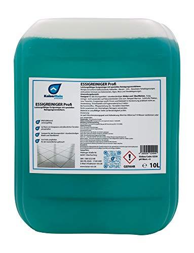 KaiserRein Profi Essig-reiniger 10 L Kanister für den Sanitärbereich mit speziellen Reinigungs-Verstärkern