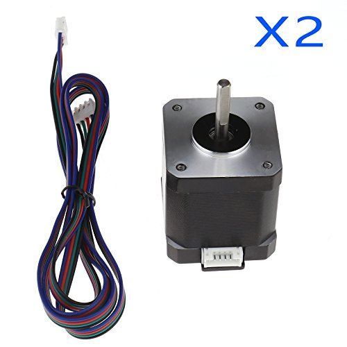 2tlg 3D Pinter Reprap CNC Robot (84oz.in) 59Ncm Nema 17 Stepper Motor 1m Cable