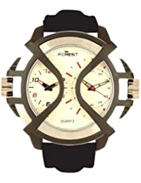 Forest Analogue Silver Dial Men's Watch - SB 7