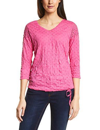 Street One Damen Langarmshirt 311926, Rosa (Flamingo Pink 11272), 38 (Crash, Weiches T-shirt)