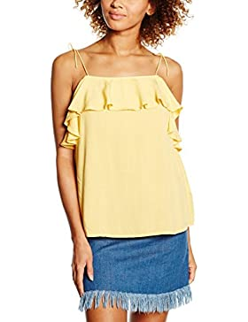 New Look High Neck Peplum, Top Donna