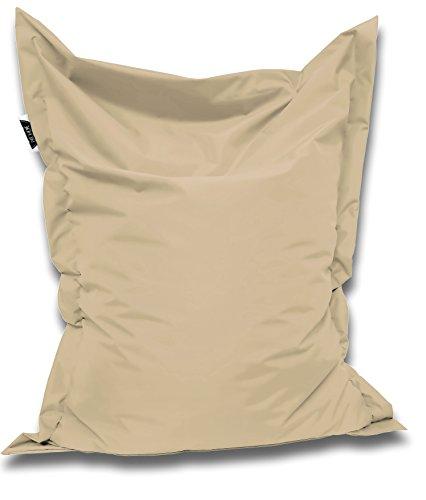 Patchhome Sitzsack und Sitzkissen Eckig - Beige - 180x145cm in 25 Farben und 7 versch. Größen