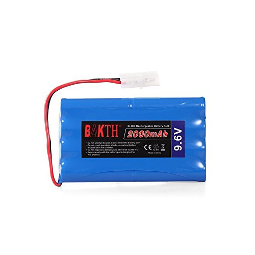 Preisvergleich Produktbild BAKTH Akku Racing-Pack mit Tamiya-Stecker 9.6V 2000mAh NiMH Akku für Elektro(Toy / Spielzeug) Fahrzeuge Hochleistungs RC Akkupack (8-Zellen AA) (Blau) + Chinesischen Stil Untersetzer als Geschenk