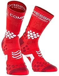 Compressport Trail 2.1 - Calcetín unisex, color rojo, talla L