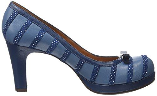 Chie Mihara - Ausia30, Scarpe col tacco Donna Bleu (Tailu Ocean Punti Navy)