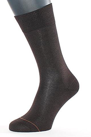 ALBERT KREUZ Business Herren-Socken aus Baumwolle mit Cashmere / Kaschmir-Innenseite braun 1 Paar Gr. 45-47