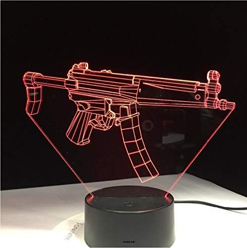 pen 7 Farben Stil Legendäre Scar Rifle Battle Royale Lichtwechsel Für Schlafzimmer Wohnkultur Spiel Fan Chrismas Geschenk ()