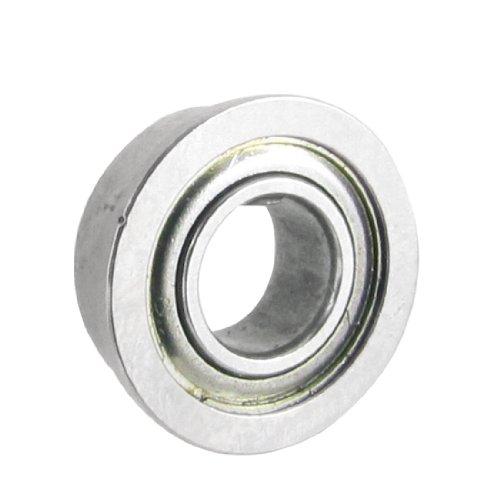 sourcing map 10mm x 5mm x 4mm Metall Geschirmt Tiefe Rillen Flansch Kugellager Silber Ton de DE de -