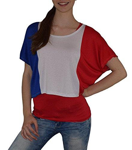 S&LU Super Angesagtes 2-Teiliges Fan - Flag - Top Deutschland Italien Frankreich England Spanien USA Größe 34-40 (XS-L) (One Size, Frankreich-Rot)