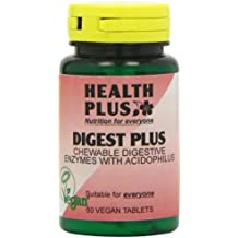 Health Plus Digest Plus Digestive Enzyme Supplement - 60 Chewable Tablets