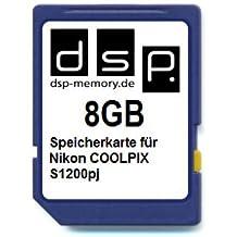 DSP Memory 4051557403123de Z 8Go Carte mémoire pour Nikon CoolPix S1200pj