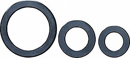 Gummi-Flansch-Dichtung m. Stahleinlage schwarz 77x127x4 mm DIN 2690 NBR-Qualitä für PN 10/16/40 (Gummi-flansch-dichtungen)