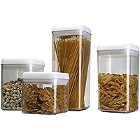 ABO Set di 4 Contenitore ermetico per alimenti, 0.5+0.8+ 0.8+1.2L, (Jar Kitchen Decor)