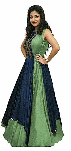 Vivan Trendz Women\'s Semi stiched Gown For party wear Lengha Choli..