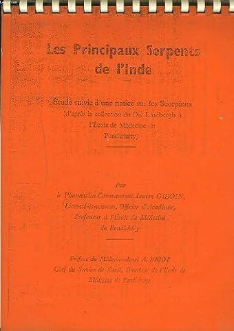 LES PRINCIPAUX SERPENTS DE L