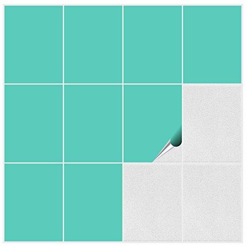 FoLIESEN 2292020 Vinilo adhesivo para azulejos de cocina y baño, pvc, verde...