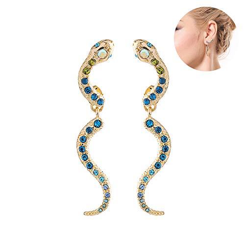 edf912d90317 Pendientes serpentina pendientes del oro Señora Pendientes 1 par de la  serpiente del perno prisionero de