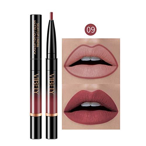 Gaddrt Dauerhafter Lipliner Lip-Liner-Stift mit Bleistift in 16 Farben Lippenkonturenstift (I)