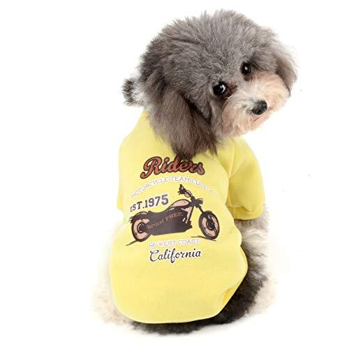Kostüm Frau Wetter - Ranphy Pullover für kleine Hunde, Fleece, für Mädchen, Jungen, Winter, warm, Kapuzenpullover für Haustiere, Sportshirt für kaltes Wetter