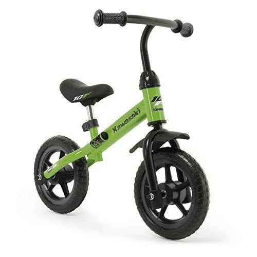 INJUSA Bicicleta Kawasaki Balance sin Pedales para Niños de 3 Años de Fácil Manejo y Ruedas de Goma Eva, Color Verde, 69 x 38,5 x 52 cm (5085)