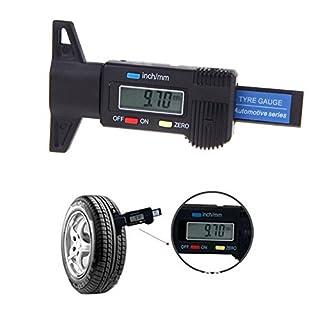 0-25mm Digitaler Tiefenmesser Reifenprofilmesser Elektronische Mikrometer messen Messchieber Reifenprofil Profiltiefenmesser Profilmesser LCD-Display