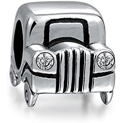 Bling Jewelry Plata Esterlina CZ Cordón Jeep Coche Faro e encanto
