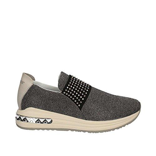 CAFeNOIR MDA945 Argento e Oro Sneakers Scarpe Donna Comode Fashiom Grigio