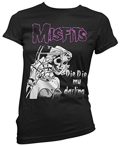 T-shirt Donna Misfits - Die Die My Darling - Maglietta 100% cotone LaMAGLIERIA,L , Nero