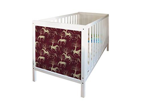 YOURDEA - Sticker für IKEA Sundvik Kinderbett mit Motiv Pferd Variation inklusive Rakel SET