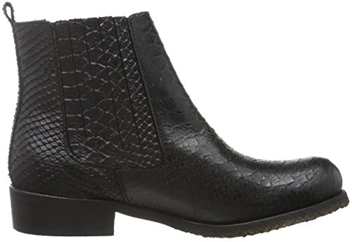 Ca'Shott Damen A16521 Chelsea Boots Schwarz (black python 2000)