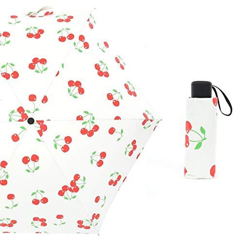 SQYSHOP Tragbarer ultraleichter Mini-Regenschirm Sun Sun Shade UV-Schutz-Sombrilla für Regen und Sun Five Folding Umbrella Outdoor-Zubehör , als Foto-China anzeigen