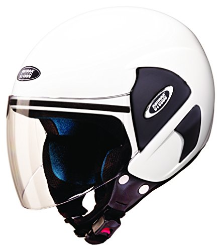 Studds Cub Open Face Helmet (White, L)  available at amazon for Rs.772