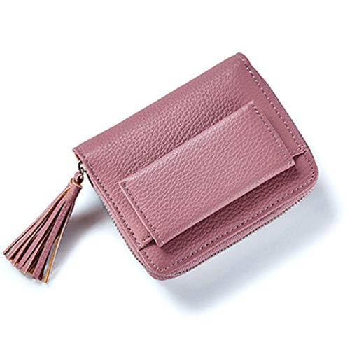 Short Tassel Lady Mini-Karte Inhaber weibliche Kreditkarte münzbeutel ()