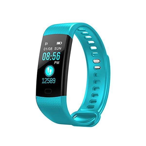 Milnnare Reloj Inteligente Presión Arterial Frecuencia cardíaca Monitor de sueño Podómetro Sports Fitness Smart Pulsera - Purple 6