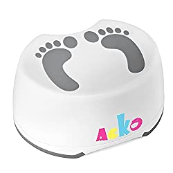ACKO Step Stool For Children Anti-Slip Bathroom and Kitchen Foot Stool Perfect For Baby Kids Potty Training