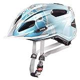 Uvex Quatro Junior Kinder Fahrrad Helm Gr. 50-55cm blau/silberfarben 2019