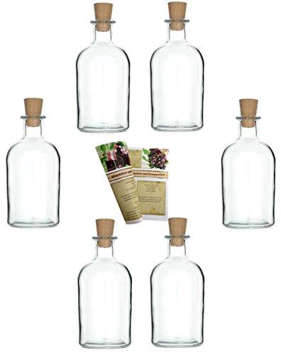 gouveo 24 botellas vacías de 250 ml con corchos, botellas de vidrio vacías, botellas de licor