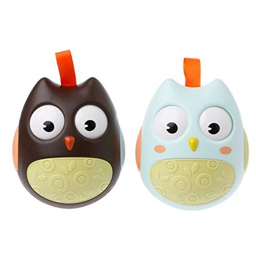 JAGENIE Cute Nodding Moving Eyes Owl Doll Tumbler Sonajeros...