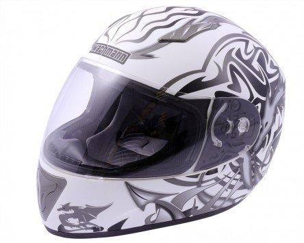 Einstellbare Wangenpolster (Integralhelm / Motorradhelm WACHMANN WA-10 ViriFortis grau / weiß matt - Größe S)