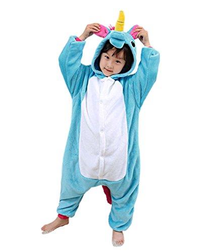 n Pyjamas, OKSakady Junge Mädchen Flanell Onesies Nachthemd Tier Cospaly Kapuzen Kostüme Nachtwäsche Nachtwäsche (Baby Mädchen Halloween Kostüme Uk)