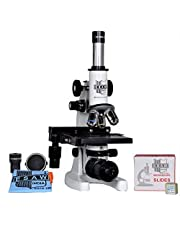 Esaw Medical Microscope with LED and 50 Prepared Slides (White)